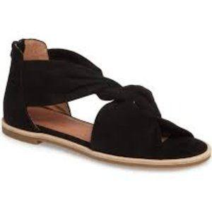 Caslon Maxwell Black Suede Twist Strap Sandals